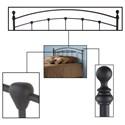 Morris Home Furnishings Metal Beds California King Transitional Sanford Metal Headboard
