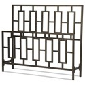 Fashion Bed Group Metal Beds Cal King Miami Headboard and Footboard - Item Number: B60447
