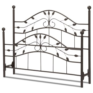 Fashion Bed Group Metal Beds Full Sycamore Headboard and Footboard