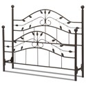 Fashion Bed Group Metal Beds Queen Sycamore Headboard and Footboard - Item Number: B90495