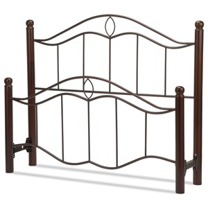 Fashion Bed Group Metal Beds King Cassidy Headboard and Footboard