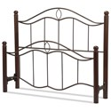 Fashion Bed Group Metal Beds Cal King Headboard and Footboard - Item Number: B90837