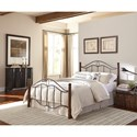 Morris Home Furnishings Metal Beds Full Transitional Cassidy Metal Ornamental Bed