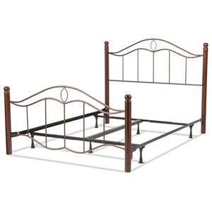 Morris Home Furnishings Metal Beds Queen Metal Ornamental Bed