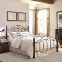 Fashion Bed Group Metal Beds Queen Transitional Cassidy Metal Ornamental Bed