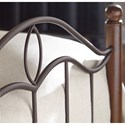 Morris Home Furnishings Metal Beds California King Transitional Cassidy Metal Ornamental Bed