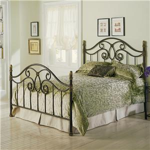 Morris Home Furnishings Metal Beds Queen Dynasty Metal Bed Without Frame