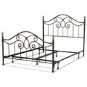 Fashion Bed Group Metal Beds Queen Dynasty Metal Bed - Item Number: B91N55