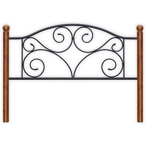 Morris Home Furnishings Metal Beds King Steel and Wood Headboard
