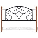 Fashion Bed Group Metal Beds King Steel and Wood Headboard - Item Number: B92276