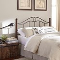 Fashion Bed Group Metal Beds Full Transitional Cassidy Metal Headboard