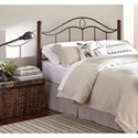 Morris Home Furnishings Metal Beds Queen Transitional Cassidy Metal Headboard