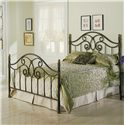 Fashion Bed Group Metal Beds Full Dynasty Duo Panel Headboard or Footboard - Duo Panel Shown in Bed Setting