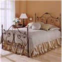 Morris Home Furnishings Metal Beds Twin Aynsley Duo Panel Headboard or Footboard  - Duo Panel Shown in Bed Setting