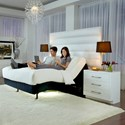 Fashion Bed Group Premier Series Full Extra Long Adjustable Base with Upholstered Frame