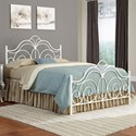 Fashion Bed Group Rhapsody Rhapsody California King Bed with Curved Grill Design and Finial Posts