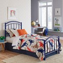 Fashion Bed Group Rylan Twin Rylan Complete Kids Bed with Metal Duo Panels