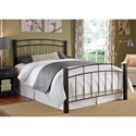 Fashion Bed Group Scottsdale Scottsdale Twin Bed with Metal Duo Panels and Dark Espresso Wooden Posts