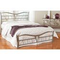 Fashion Bed Group Snap Beds Full Metal Snap Bed with Brushed Pewter Finish and Upholstered Pillows