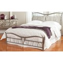 Morris Home Furnishings Snap Beds Queen Metal Snap Bed with Brushed Pewter Finish and Upholstered Pillows