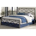 Fashion Bed Group Snap Beds Contemporary Full Metal Snap Bed with Geometric Design