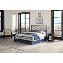 Morris Home Furnishings Snap Beds Contemporary Full Metal Snap Bed with Geometric Design