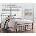 Fashion Bed Group Snap Beds Queen Metal Snap Bed with Weathered Nickel Finish