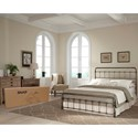 Fashion Bed Group Snap Beds California King Metal Snap Bed with Weathered Nickel Finish