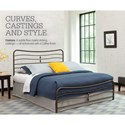 Fashion Bed Group Snap Beds Queen Metal Snap Bed with Coffee Finish
