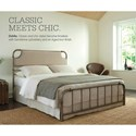 Fashion Bed Group Snap Beds Full Metal and Fabric Snap Bed with Aged Iron
