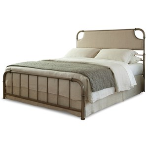 Morris Home Furnishings Snap Beds Queen Metal and Fabric Snap Bed