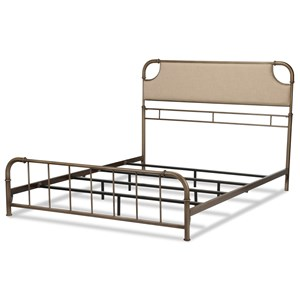 Fashion Bed Group Snap Beds Cal King Metal and Fabric Snap Bed