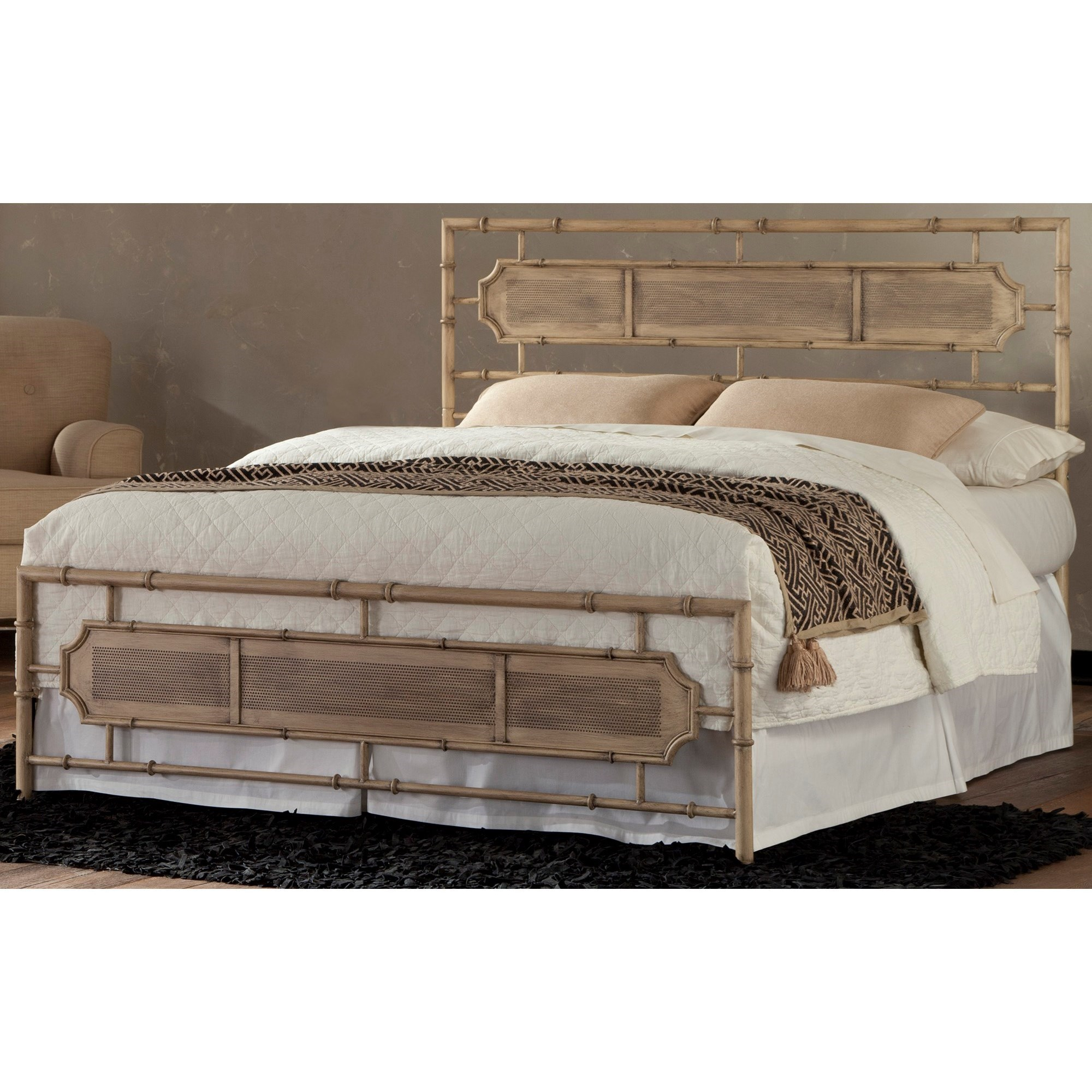 Coastal Queen Metal Snap Bed With Desert Sand Finish   Snap Beds By Fashion  Bed Group   Wilcox Furniture   Headboard U0026 Footboard