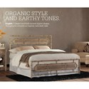 Fashion Bed Group Snap Beds Coastal Queen Metal Snap Bed with Desert Sand Finish