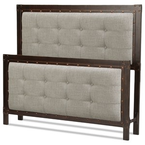 Fashion Bed Group Upholstered Headboards and Beds Queen Gotham Headboard and Footboard