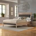 Fashion Bed Group Upholstered Headboards and Beds Queen Wood and Fabric and Metal Ornamental Platform Bed