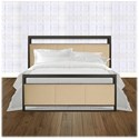 Morris Home Furnishings Upholstered Headboards and Beds King Transitional Metal and Fabric Ornamental Bed
