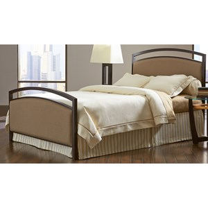 Fashion Bed Group Upholstered Headboards and Beds Full Metal and Fabric Ornamental Bed