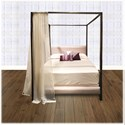 Morris Home Furnishings Upholstered Headboards and Beds Queen Contemporary Metal and Fabric Ornamental Bed