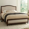 Morris Home Furnishings Upholstered Headboards and Beds California King Transitional Wood and Fabric Ornamental Bed