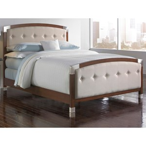 Fashion Bed Group Upholstered Headboards and Beds Queen Ornamental Bed