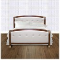 Morris Home Furnishings Upholstered Headboards and Beds California King Wood and Fabric and Metal Ornamental Bed