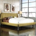 Fashion Bed Group Upholstered Headboards and Beds Queen Mid-Century Prelude Platform Bed