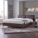 Fashion Bed Group Upholstered Headboards and Beds Queen Metal and Fabric Ornamental Bed
