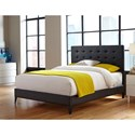 Fashion Bed Group Upholstered Headboards and Beds Queen Contemporary Metal and Fabric Ornamental Bed