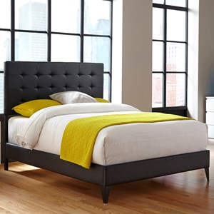 Fashion Bed Group Upholstered Headboards and Beds King Metal and Fabric Ornamental Bed