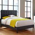 Fashion Bed Group Upholstered Headboards and Beds California King Contemporary Metal and Fabric Ornamental Bed - Bed Shown May Not Represent Size Indicated