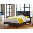 Fashion Bed Group Upholstered Headboards and Beds California King Contemporary Metal and Fabric Ornamental Bed