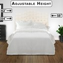 Fashion Bed Group Upholstered Headboards and Beds King/California King Martinique Headboard with Tufting