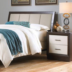 Morris Home Furnishings Upholstered Headboards and Beds Queen Wood and Fabric Headboard